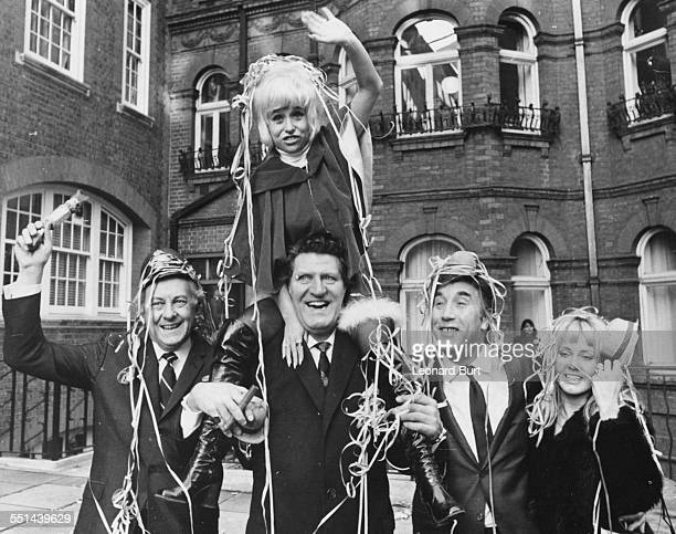 British actors to star in ITV's Christmas programs Hughie Green Barbara Windsor Tommy Cooper Frankie Howard and Yutte Stensgaard laughing and...