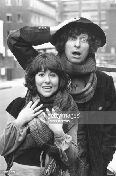 British actors Tom Baker and Elisabeth Sladen who star in the new BBCTV series 'Dr Who'