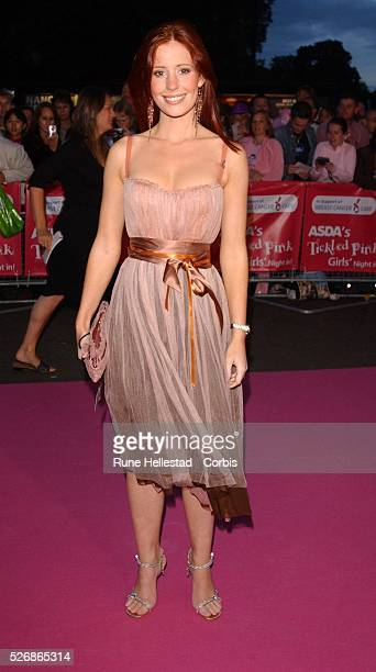 British actress Amy Nuttall attends the Asda Tickled Pink Gala in aid of Breast Cancer Care at The Royal Albert Hall in London