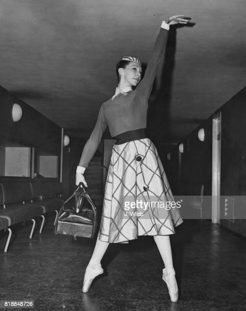 British actress and figure skater Belita rehearses at the Royal Festival Hall in London for the venue's sixth anniversary gala night 8th September...