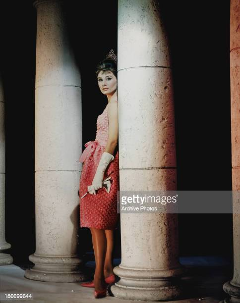 British actress and humanitarian Audrey Hepburn as 'Holly Golightly' in a scene from 'Breakfast at Tiffany's' circa 1960