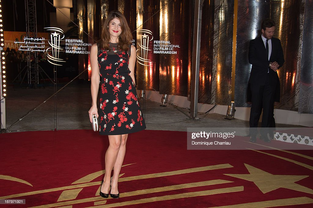 British Actress and jury member <a gi-track='captionPersonalityLinkClicked' href=/galleries/search?phrase=Gemma+Arterton&family=editorial&specificpeople=4296305 ng-click='$event.stopPropagation()'>Gemma Arterton</a> arrives to the Tribute To Chinese Director Zhang Yimou during the 12th International Marrakech Film Festival on December 2, 2012 in Marrakech, Morocco.