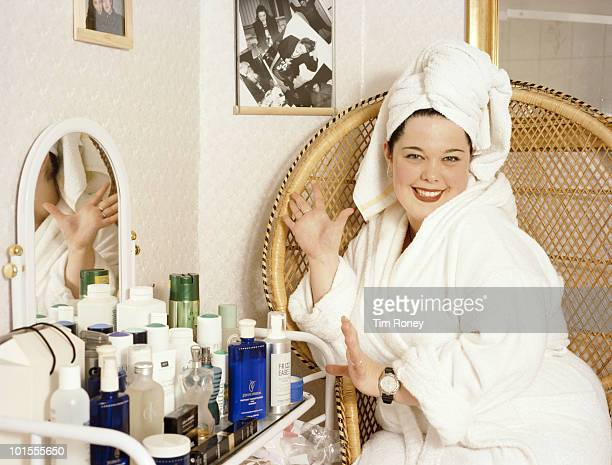 British actress and television presenter Lisa Riley circa 2000