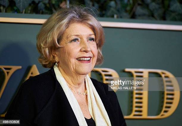British actress Anne Reid poses on the red carpet as she attends the 61st London Evening Standard Theatre Awards 2015 in London on November 22 2015...