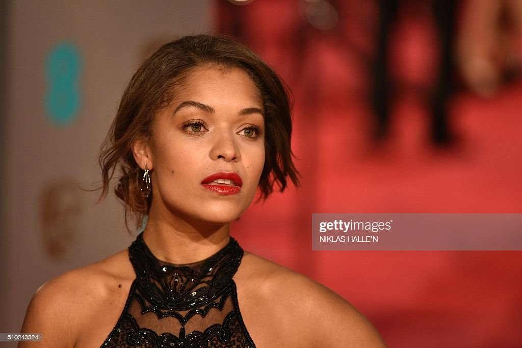 British actress Antonia Thomas poses on arrival for the BAFTA British Academy Film Awards at the Royal Opera House in London on February 14, 2016. AFP / NIKLAS HALLE'N / AFP / NIKLAS HALLE'N