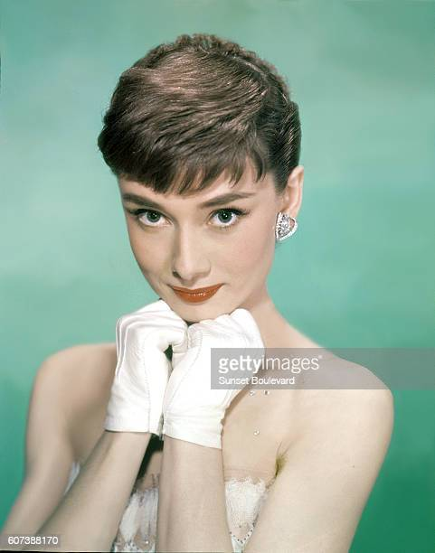 British actress Audrey Hepburn on the set of Sabrina directed by Billy Wilder