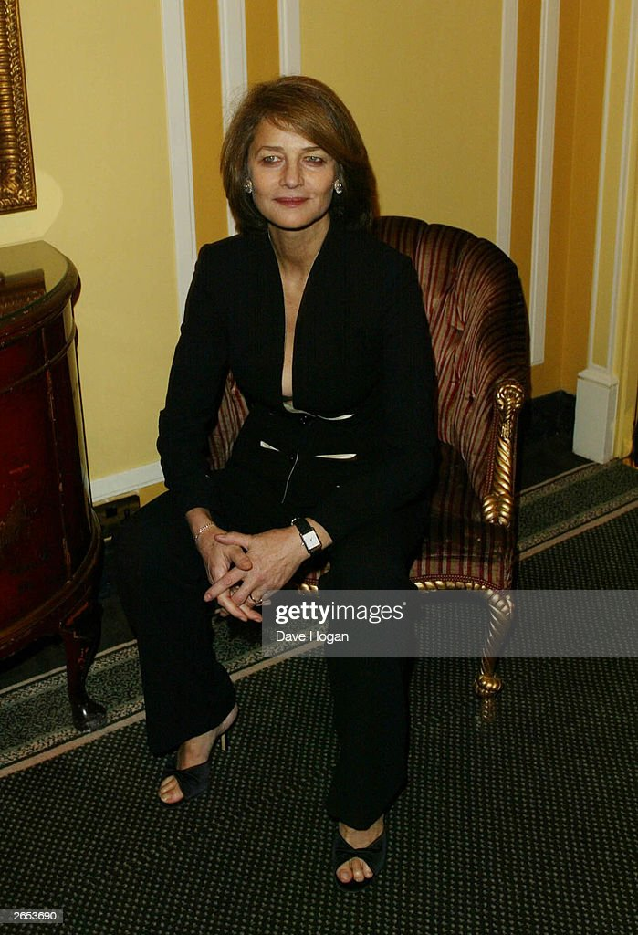 British actress Charlotte Rampling attends the 'London Film Critics Awards' at the Dorchester Hotel on February 12, 2003 in London.