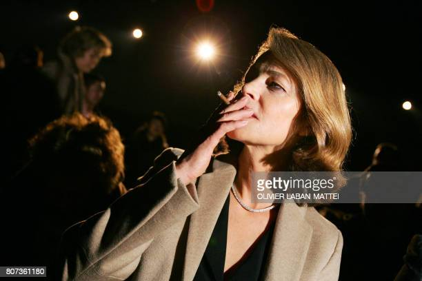 British actress Charlotte Rampling attends the presentation of the men's readytowear fall/winter 20062007 collections by French designer Heidi...