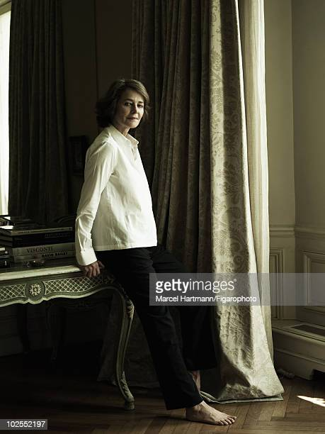 British actress Charlotte Rampling photographed in her Paris apartment for Madame Figaro Magazine in July 2009 Published image Image ID002 CREDIT...