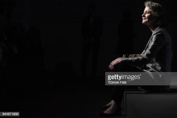 TOPSHOT British actress Charlotte Rampling poses during a photocall after she receives the Coppa Volpi for Best Actress for her character in the...