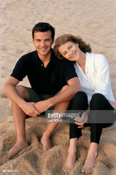 British actress Charlotte Rampling with French director and screenwriter François Ozon attend the Acapulco Festival to present his movie Sous le Sable