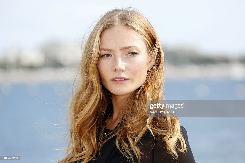 British actress Clara Paget poses during a photocall for the TV series 'Black Sails' as part of the Mipcom international audiovisual trade show at the Palais des Festivals, in Cannes, southeastern France, on October 7, 2013.