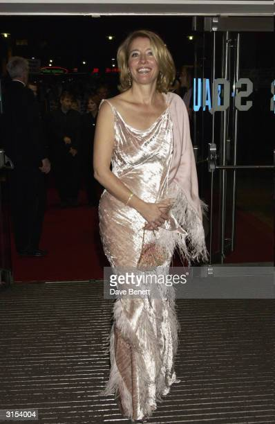 British actress Emma Thompson arrives at the UK premiere of the film 'Love Actually' held at the Odeon Cinema Leicester Square on November 16 2003 in...