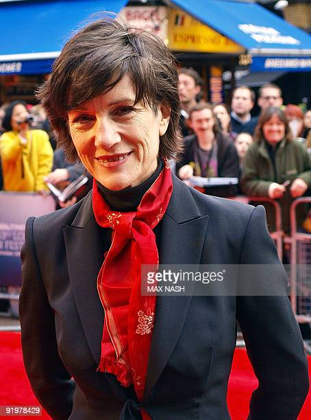 British actress Harriet Walter poses as she arrives to attend the UK Premiere of the film 'From Time to Time' in London's Leicester Square during the...