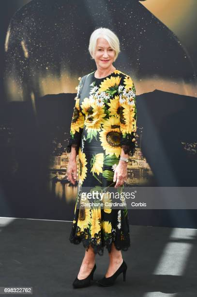 British Actress Helen Mirren poses for a Photocall during the 57th Monte Carlo TV Festival Day Five on June 20 2017 in MonteCarlo Monaco
