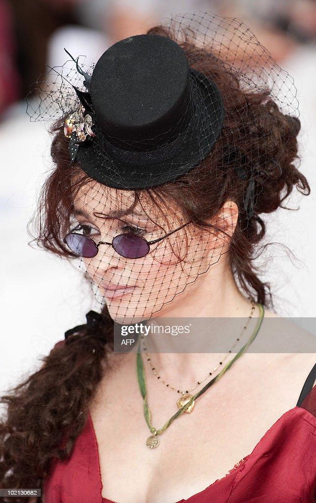 British actress Helena Bonham Carter arrives at The Philips British Academy Television Awards held at The Palladium on June 6, 2010 in London, England.