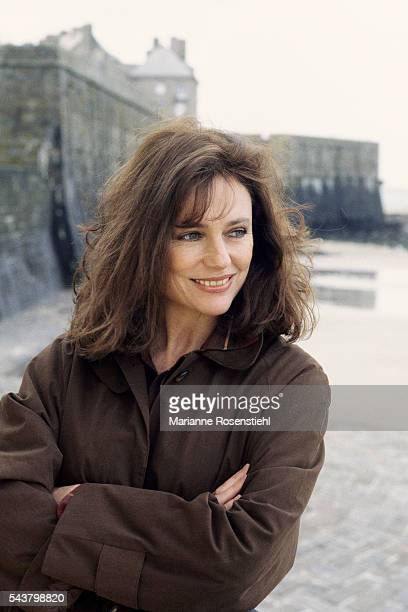 British actress Jacqueline Bisset on the set of Claude Chabrol's movie La Ceremonie