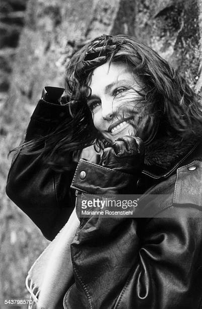 British actress Jacqueline Bisset on the set of the 1995 French film 'La Céremonie' directed by Claude Chabrol