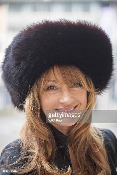 British actress Jane Seymour attends a service of thanksgiving for the life and work of Lord Attenborough CBE at Westminster Abbey on March 17 2015...