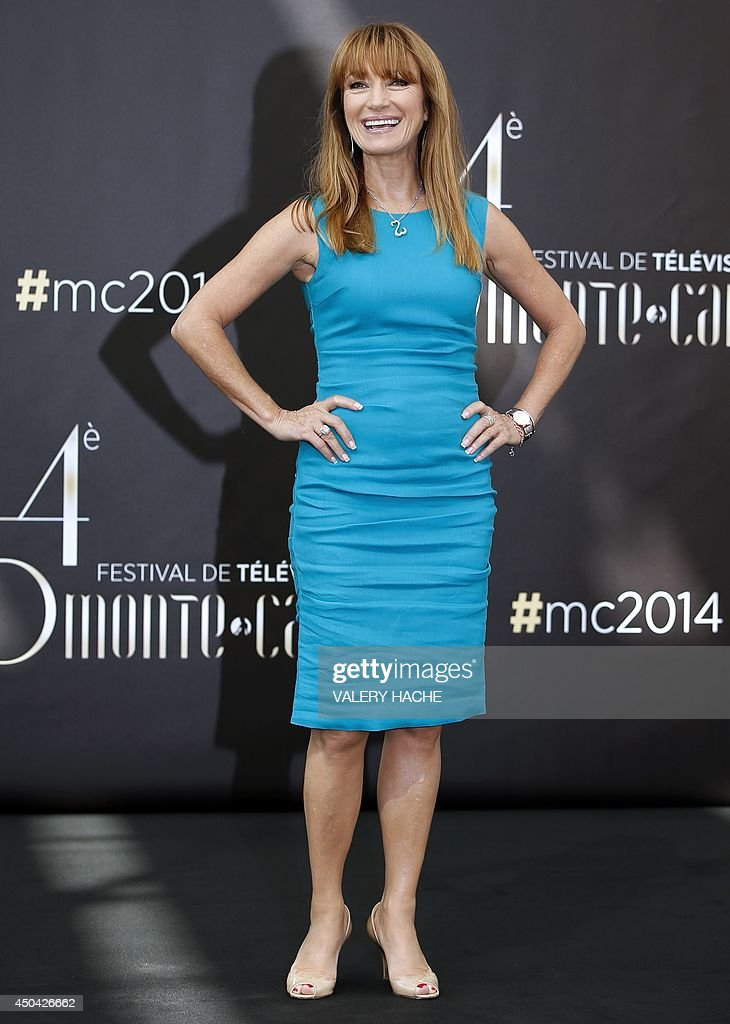 British actress Jane Seymour poses during a photocall as part of the 54nd Monte-Carlo Television Festival on June 11, 2014 in Monaco.