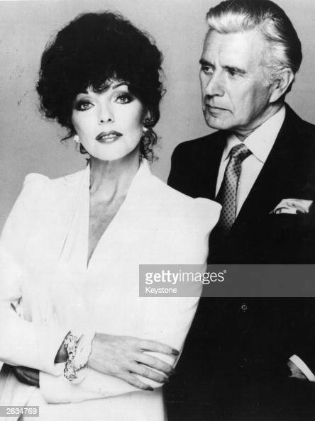 British actress Joan Collins and her 'Dynasty' TV series costar John Forsythe