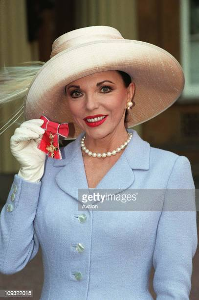 British Actress Joan Collins OBE After her investiture with the OBE at Buckingham Palace