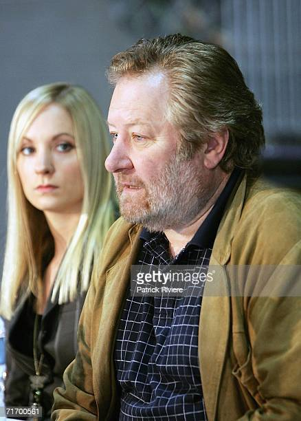 British actress Joanne Froggatt and Australian actor John Wood attend a media press conference to introduce the key cast of the new television...