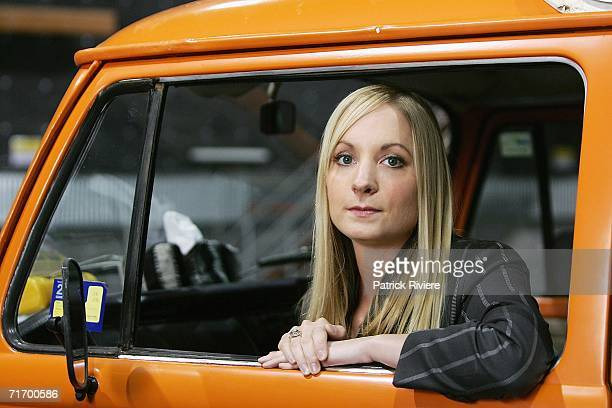 British actress Joanne Froggatt poses at the media conference to introduce the key cast of the new television production 'To Catch A Killer The...
