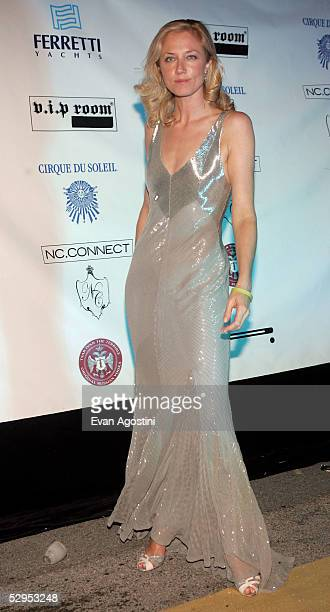 British actress Joely Richardson arrives at Naomi Campbell's Le Carnival D'Or party at VIP Terraces Palm Beach during the 58th International Cannes...