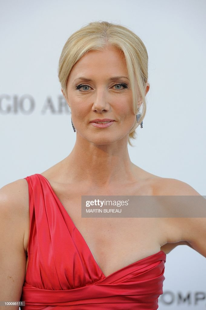 British actress Joely Richardson poses while arriving at amfAR's Cinema Against Aids 2010 benefit gala on May 20, 2010 in Antibes, southeastern France.