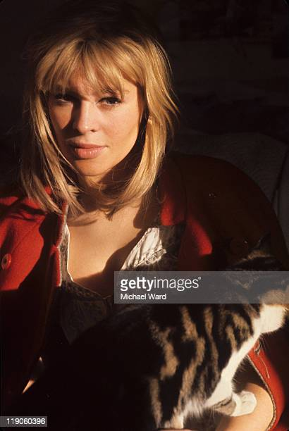 British actress Julie Christie with a cat 1964