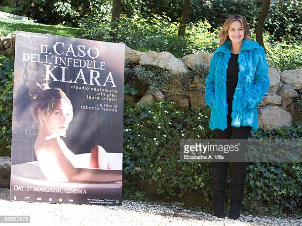 British actress Kierston Wareing attends 'Il Caso Dell' Infedele Klara' photocall at De Russie Hotel on March 23 2009 in Rome Italy