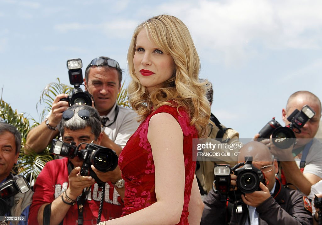 British actress Lucy Punch poses during