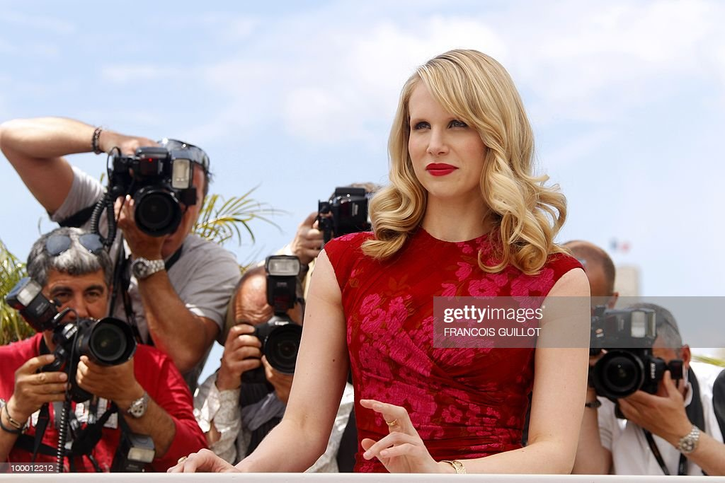 British actress Lucy Punch poses during the photocall of 'You Will Meet a Tall Dark Stranger' presented out of competition at the 63rd Cannes Film Festival on May 15, 2010 in Cannes.