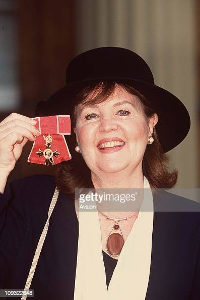 British Actress Pauline Collins Obe Outside Buckingham Palace after receiving her OBE