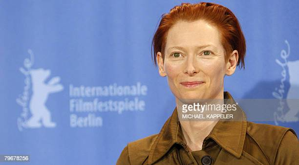 British actress poses during the photocall of the movie 'Julia' by French director Erick Zonca and presented in competition for the Golden Bear of...