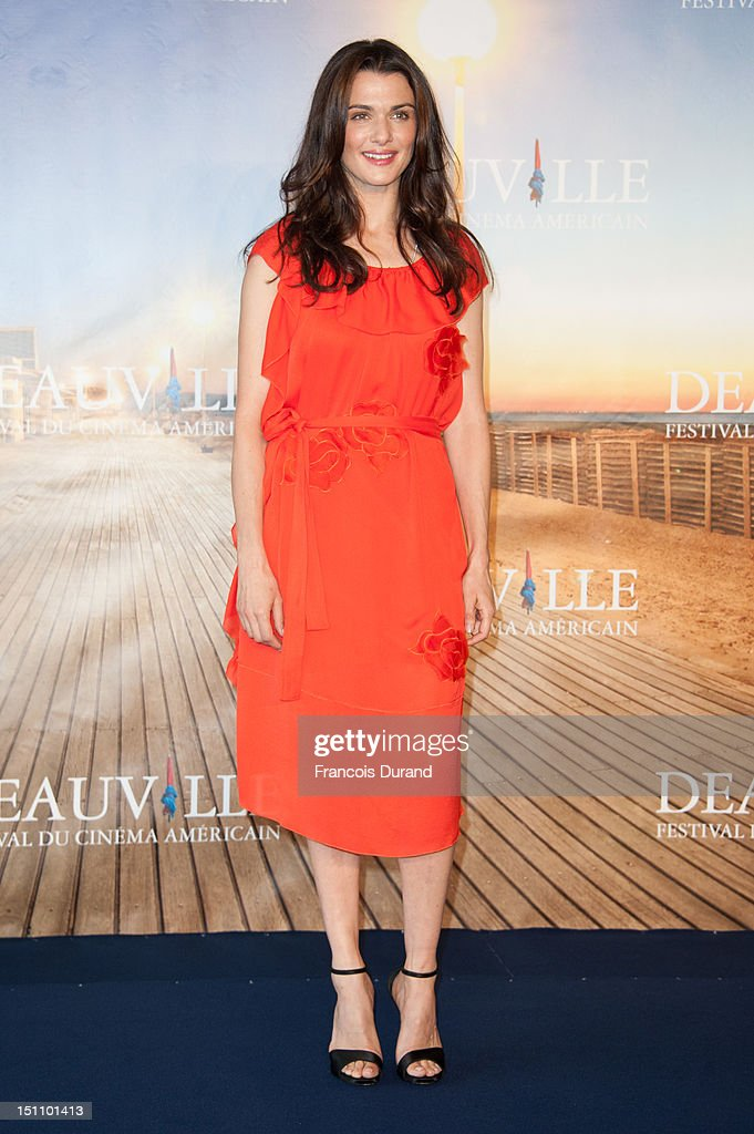 British actress <a gi-track='captionPersonalityLinkClicked' href=/galleries/search?phrase=Rachel+Weisz&family=editorial&specificpeople=204656 ng-click='$event.stopPropagation()'>Rachel Weisz</a> poses at 'The Bourne Legacy' Photocall during 38th Deauville American Film Festival on September 1, 2012 in Deauville, France.