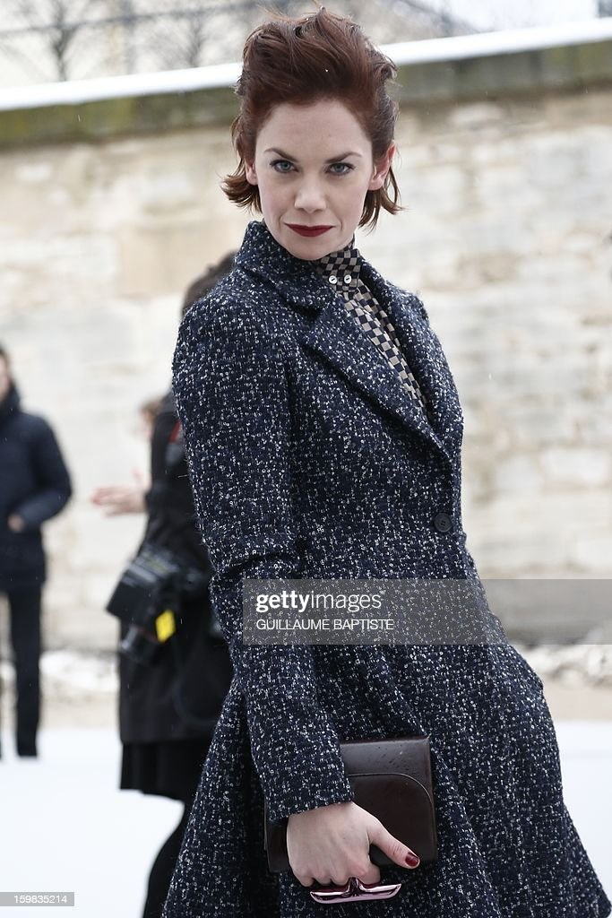 British actress Ruth Wilson arrives to attend the Christian Dior Haute Couture Spring-Summer 2013 collection show by Belgian designer Raf Simons on January 21, 2013 in Paris.