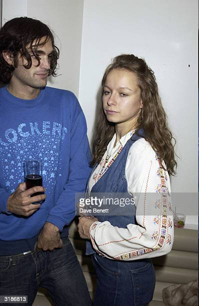 British actress Samantha Morton arrives at the 'Wheels and Dolls Baby Party' held at Harvey Nicholls on September 8 2003 in London