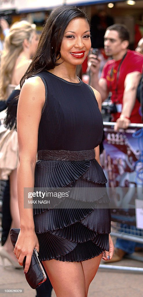 British actress Shanika Warren-Markland arrives at the World Premiere of her latest film, '4.3.2.1' in London's Leicester Square on May 25, 2010. AFP Photo/MAX
