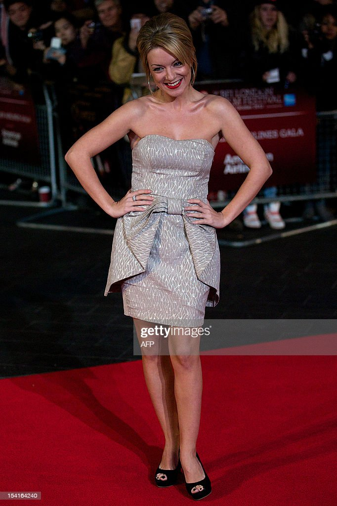 British actress Sheridan Smith poses on the red carpet as she arrives to attend the premiere of 'Quartet' during the 56th BFI London Film Festival in London on October 15, 2012. Quartet, directed by Dustin Hoffman stars Maggie Smith, Michael Gambon, Scottish comedian Billy Connolly and Sheridan Smith.