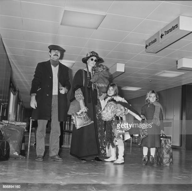British actress Vanessa Redgrave and Italian actor Franco Nero arrive at Heatrow Airport with their children Joely Richardson Natasha Richardson and...