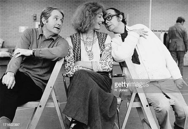 British actress Vanessa Redgrave with British comedy double act Eric Morecambe and Ernie Wise 7th December 1973