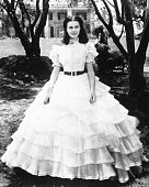 British actress Vivien Leigh as Scarlett O'Hara in 'Gone with the Wind'