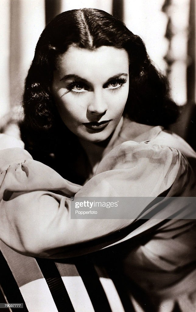 Cinema Personalities circa 1940 English actress Vivien Leigh portrait perhaps most famous for her part as Scarlett O'Hara in the 1939 classic 'Gone...