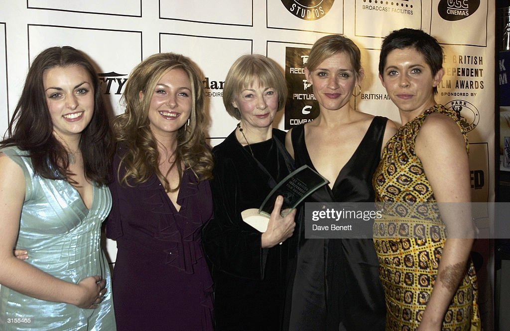 British actresses Geraldine McEwan, Anne Marie Duff, Dorothy Duffy, Nora-Jane Noone and Eileen Walsh attend the 'British Independent Film Awards 2003' held at Po Na Na in Hammersmith on November 4, 2003 in London.
