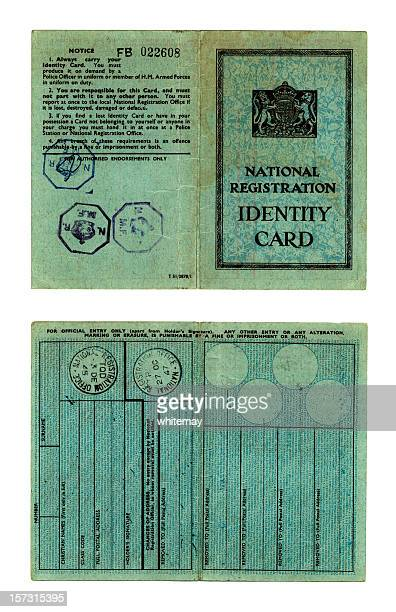 British adult's obsolete identity card