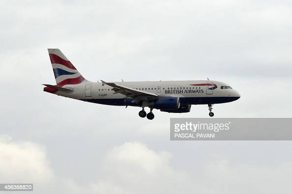 A British Airways aircraft lands at the ToulouseBlagnac airport on September 29 2014 AFP PHOTO / PASCAL PAVANI
