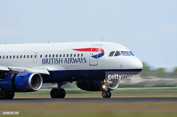 British Airways airlines plane taking off
