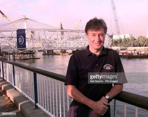 British Airways chief Executive Bob Ayling stands in front of the British Airways London Eye/The Millennium Wheel on the South Bank of the River...